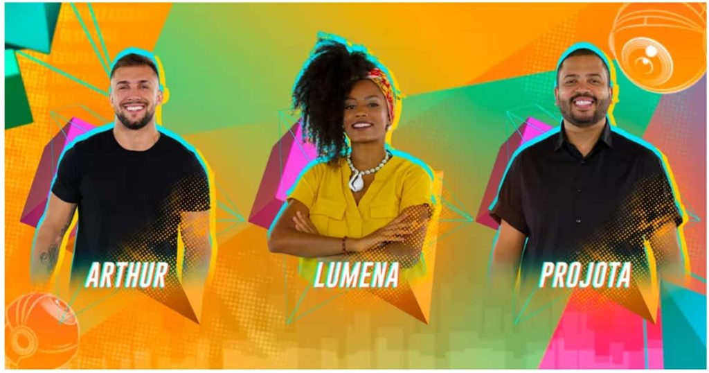 Arthur, Lumena e Projota em paredão