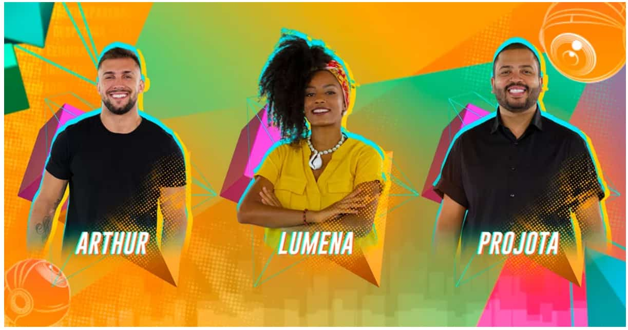 Paredão formado: Lumena, Projota e Arthur. Quem sairá da casa?
