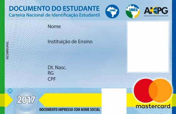 informações contidas no ID do aluno