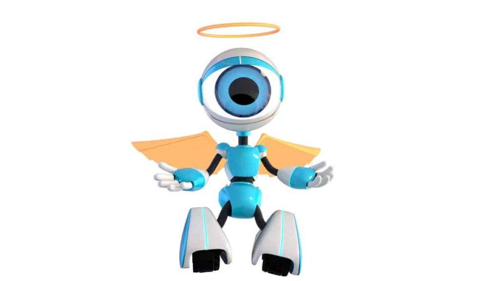 robô anjo bbb