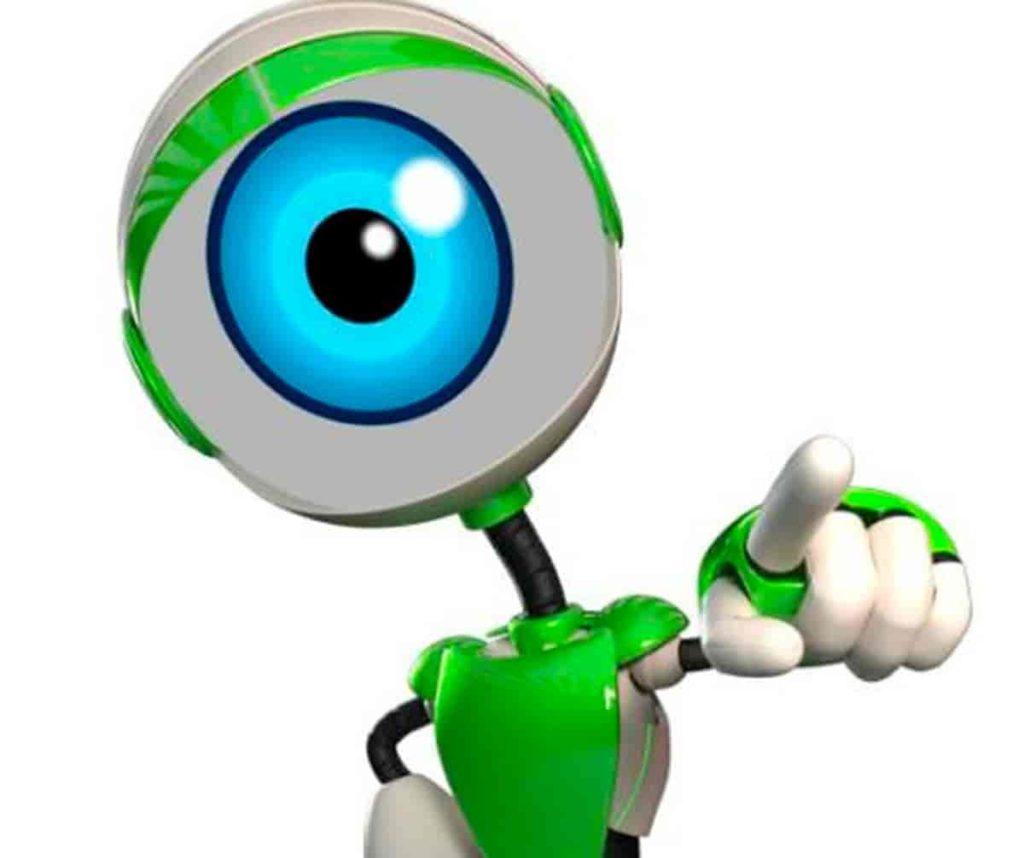 um robô do bbb mascote