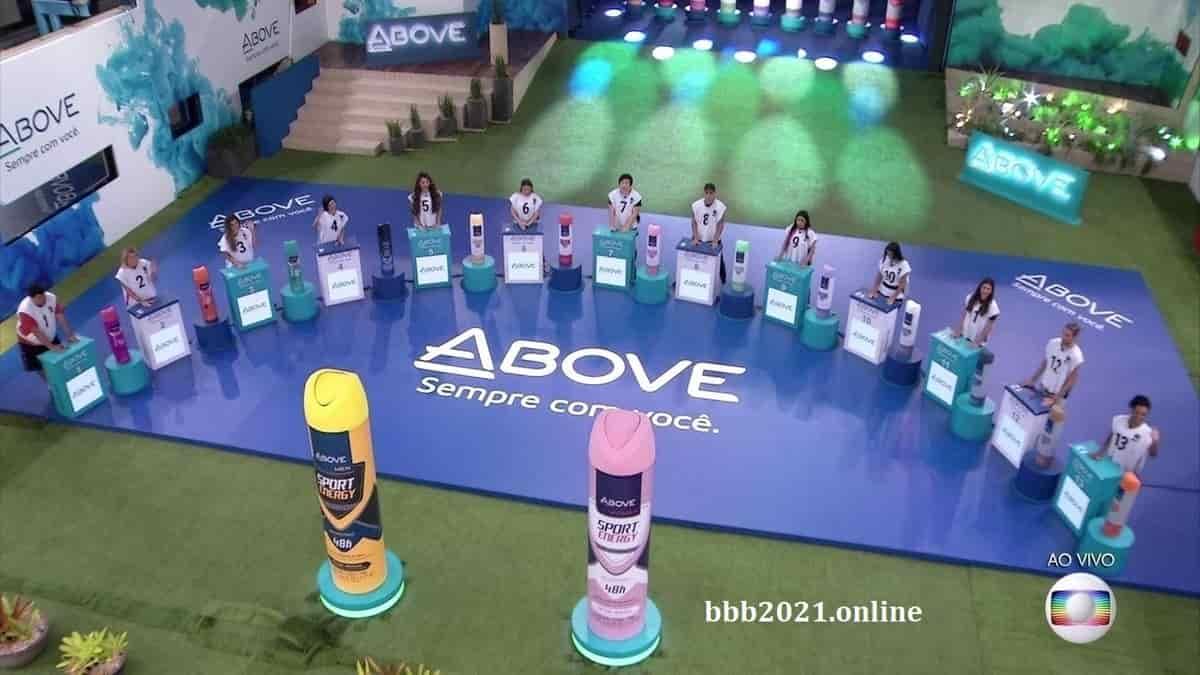participantes na prova do líder BBB 2021
