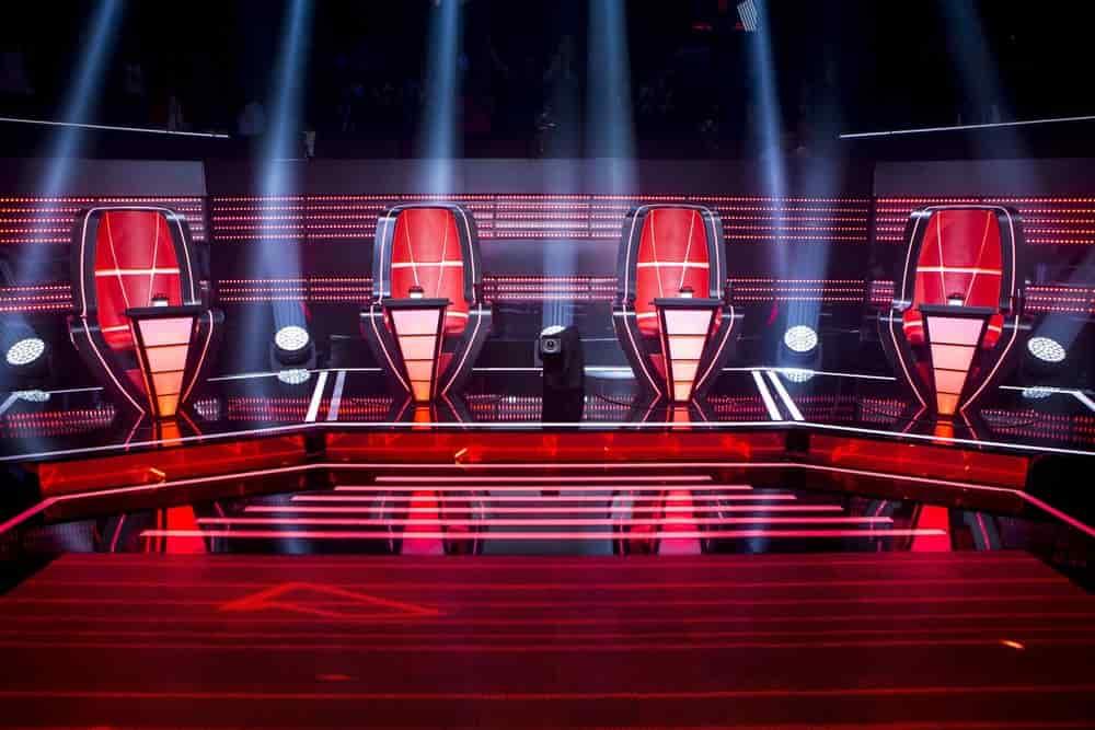 cadeiras dos jurados The Voice Brasil