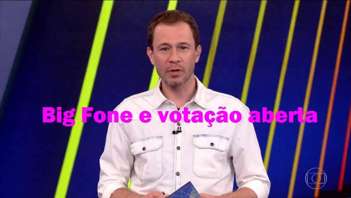 Tiago Leifert: Big Fone e votação aberta neste fim de semana no BBB21