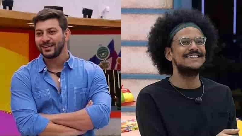 Caio convidou o brother João Luiz para o Almoço do Líder