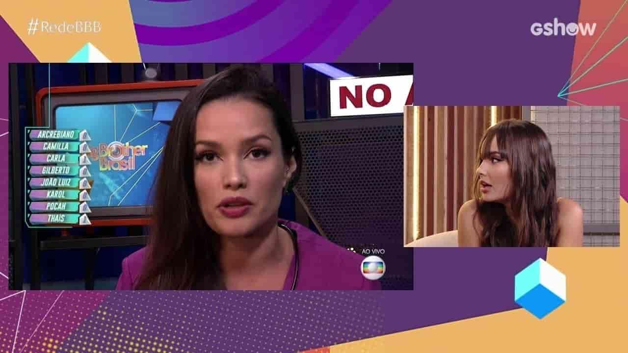 Juliette debocha e comenta que Thaís não tinha opinião própria