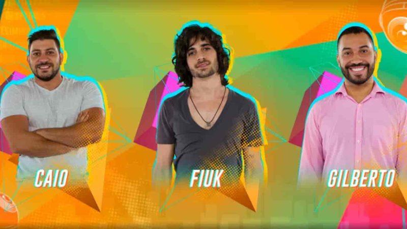 Caio, Fiuk ou Gilberto no paredão