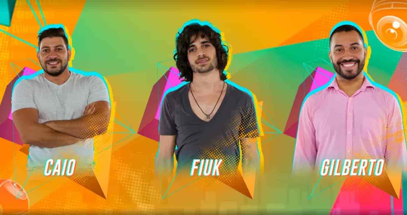 12º Paredão BBB21 – Vote para eliminar: Caio, Fiuk ou Gilberto