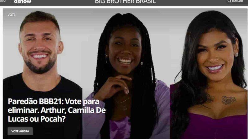 votar Arthur, Camilla de Lucas ou Pocah