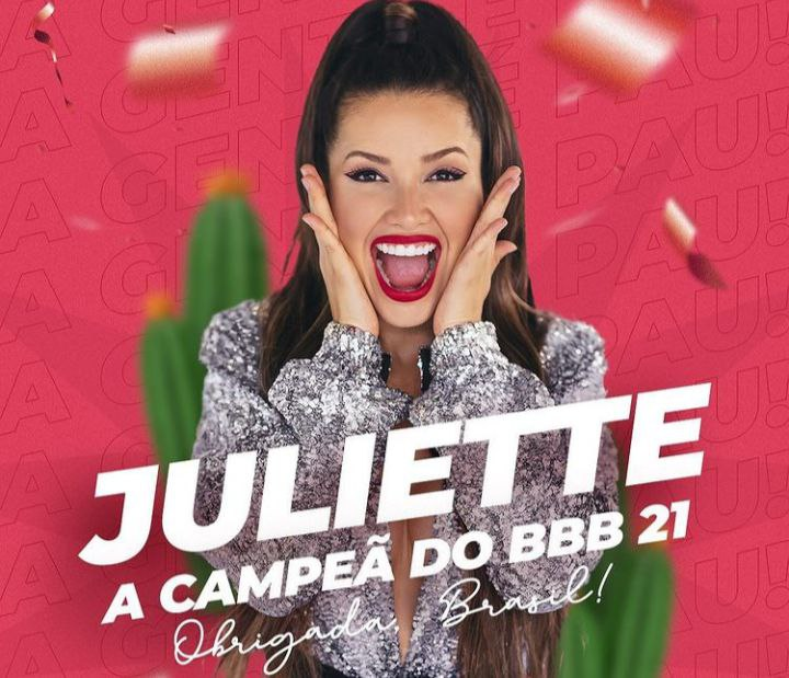Juliette bate recorde mundial após ganhar o BBB 21